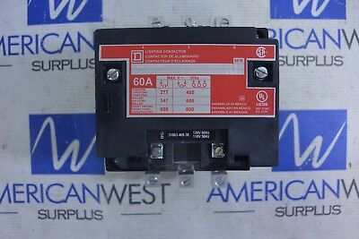8903SP02 Square D Lighting Contactor  60 Amp 120v coil 31063-409-38  NEW