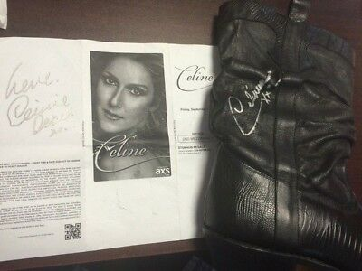 Celine Dion Signed Cowboy Boot & Autographed Concert Ticket...possibly Worn ??
