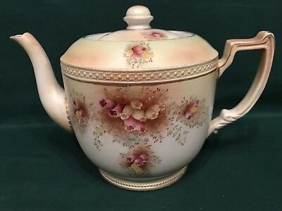 Antique Carlton Ware W & R Blush Ware Teapot