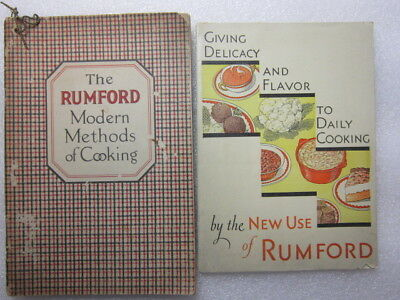 Two- Vintage Rumford Baking Powder, Modern Methods + New Use Cook Books, 1920-31