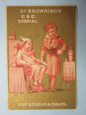 Victorian Trade Card, 1890s, Dr. Browning's Cordial Tonic, Philadelphia, PA