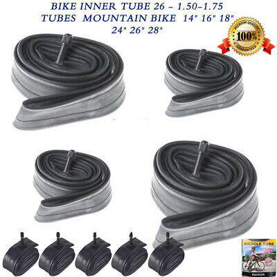 "Bike INNER TUBE 26"" 1.50-1.75 Bicycle inner tube Sizes 14"" 16"" 18"" 24"" 26"" 28"""