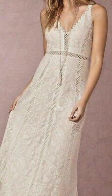 NEW SOLD OUT BHLDN Yoana Baraschi White SKY Lace Crochet Bridal Gown Sz Small