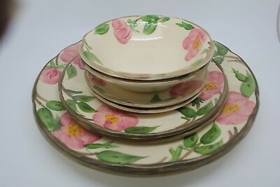 Lot of 8 Franciscan Desert Rose Plates, Bowls, - NICE Pieces