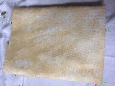 DMC Aida 1.1 m x 60cm 14 Count Cloud Yellowy-beige Cross Stitch Fabric