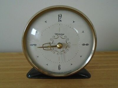 Vintage Westclox Alarm Clock -  Convex Glass with Brass Bezel - Fully Working