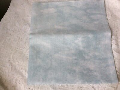 DMC Aida 1.1 m x 60cm Cloud pattern Green and white Cross Stitch Fabric