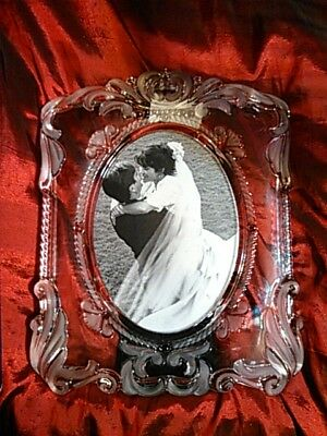 CRYSTAL PICTURE FRAME Princess by Mikasa 5x7 oval - $25.00 | PicClick