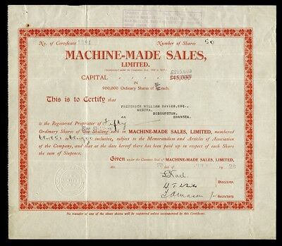 Machine-Made Sales, Limited (1928)