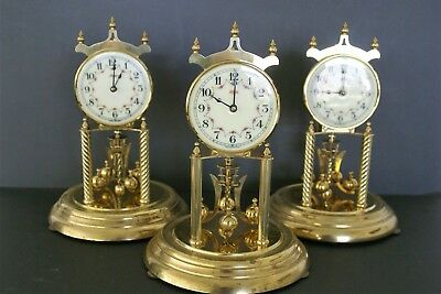 VINTAGE KUNDO KIENINGER OBERGFELL DAY 400 anniversary CLOCK FOR PARTS lot of 3