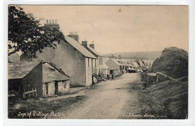 TOP OF VILLAGE, OXTON: Berwickshire postcard (C32130)