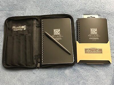 Rite in the Rain All-Weather Field Book-Black-980T-KIT (pen + cover + 2 Books)