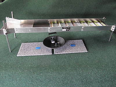 "52"" Folding Sluice Box With  Adjustable Legs Miners Moss Extras"