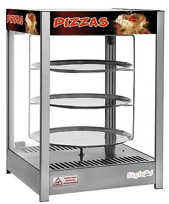 "Commercial Countertop Heated Pizza Display Merchandiser 18"" Pies"