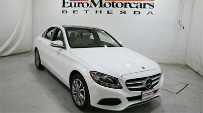 Mercedes-Benz C-Class C 300 4MATIC Sedan mercedes benz c300 c 300 4matic awd white demo 17 18 used navigation blind spot