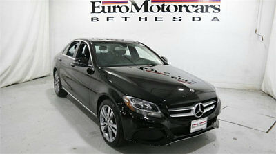 Mercedes-Benz C-Class C 300 4MATIC Sedan mercedes benz c300 c 300 4matic awd black demo 17 18 used navigation blind spot