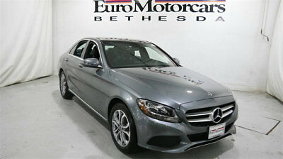 Mercedes-Benz C-Class C 300 4MATIC Sedan mercedes benz c300 c 300 4matic awd gray demo 17 18 used navigation blind spot