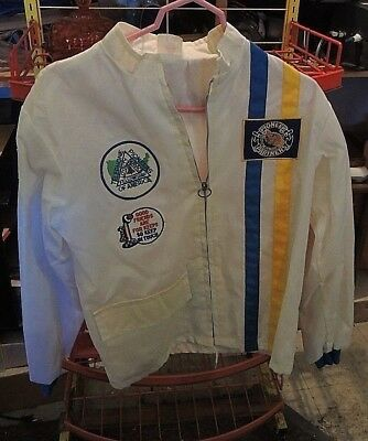 Collectible  Vintage Pioneer telephone co. Jacket with assorted patches