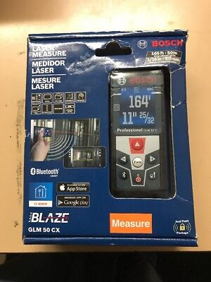 Bosch GLM 50 CX 165' Laser Measure with Bluetooth and Full Color Display - NEW!