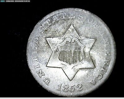 1852 3 Cent Silver Trime #4120
