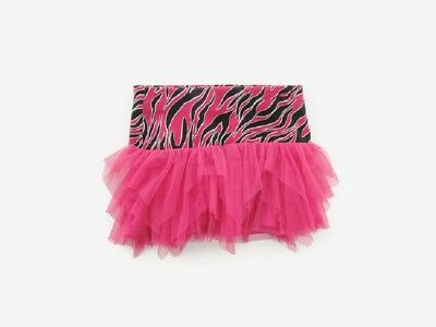 Justice Youth Girls Size 8 Hot Pink Zebra Skirt with Attached Shorts