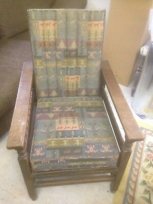 Arts And Crafts Vintage Recliner Wooden Chair