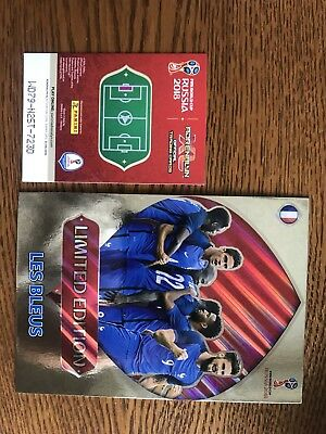 Card Panini Adrenalyn Xxl Limited Edition Les Bleus Wc Coupe Monde Russia 2018
