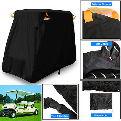 300D Heavy Duty 4 Passenger Golf Cart Cover Storage Fit EZ Go Club Car Yamaha