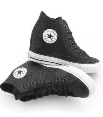 19e6a5600d44 Converse All Star Ctas Luxury Mid Wedge 555154c Blk wht Women 5
