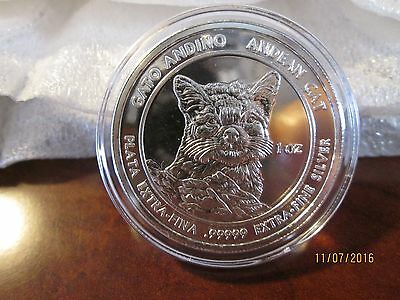 2011 Royal Silver 1 oz. Andean Cats (Lot of 3 - 1oz. rounds)