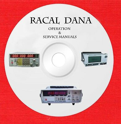 Racal Dana Owners Service schematics manuals on 1 DVD in pdf format