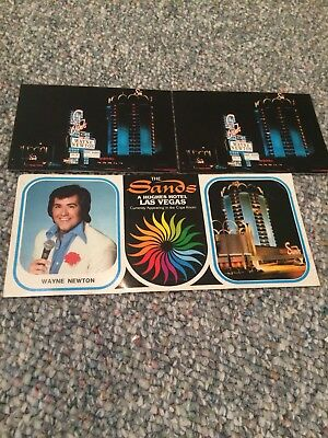 Vintage Wayne Newton post cards set of 3 Sands Las Vegas