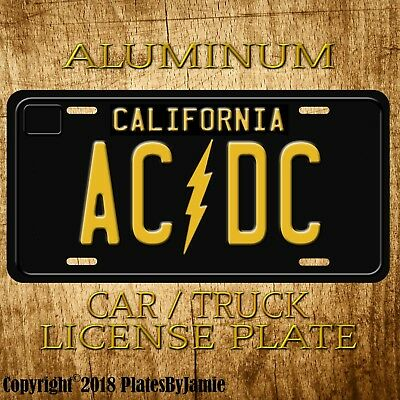 AC/DC AC DC  Metal Aluminum Vanity Car Truck Vintage License Plate Tag New