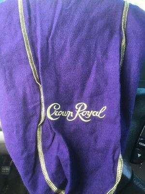 Crown Royal Large Purple Bags Lot Of 3 Gold Stitching FREE SHIPPING