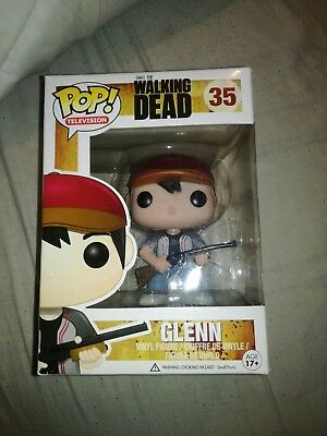 Funko pop television the walking dead red cap glenn 35 rare