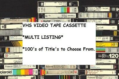 VHS Video Tapes *Multi Listing* 100s of Titles Available *A to R* Various Genres