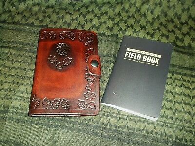 Custom Hand Made Leather Field book, Bush Craft, w/ 2 Water Proof,Note Books