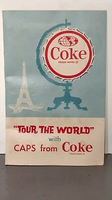 1962 Coca-Cola Tour The World With Caps From Coke Set in Original Folder 100/100