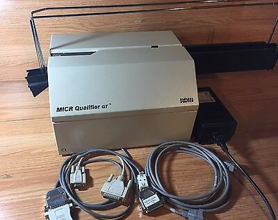 RDM MICR Qualifier GT Check Reader - Model 2453GE
