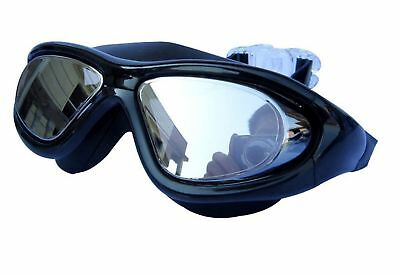 Qishi's Super Big Frame No Press the Eye Swimming Goggles for Adult