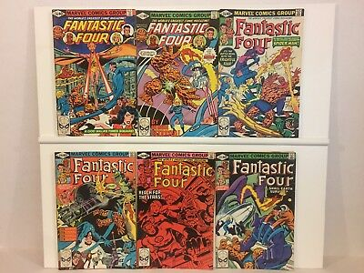 Fantastic Four 55 Comic Lot Marvel Annuals Galactus Inhumans 4 216 and Up