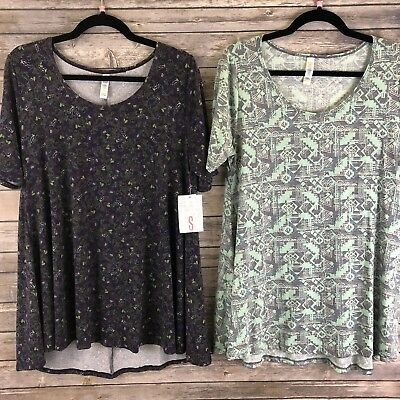 LOT OF 2 LULAROE Small PERFECT Ts ~ Flowers & Aztec Design ~ New NWT #59