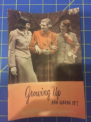 1949 GROWING UP & LIKING IT Personal Products Corp Modess MEDS Sanitary Napkins