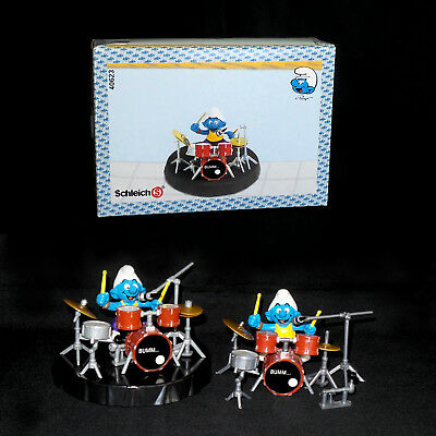 Smurf Drummer Playset 40623 & Extra Pieces, Nice, Reduced Priority Shipping