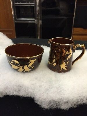 Gibson Staffordshire Creamer & Sugar China Made In England Vintage