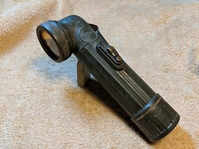 WWII WW2 TL-122C Crookneck Flashlight BRIGHT STAR US Army Paratrooper Airborne