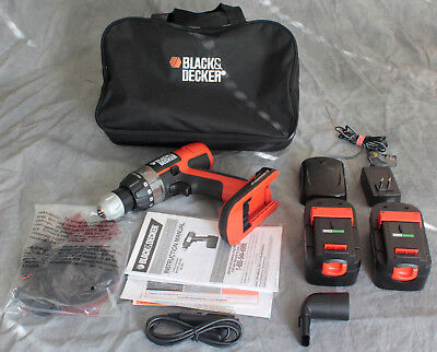 BLACK+DECKER 18v Cordless Drill and Sander kit with Charger and Two Batteries