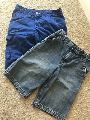 Lot Of 2 Boy's Blue Cargo / Casual Shorts Size 14 Youth Old Navy, Epic Threads