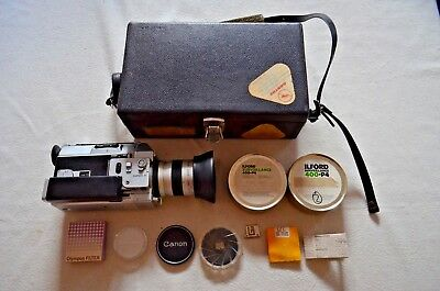 Vintage Canon Super 8 814 Camera With Carry Case & Extras