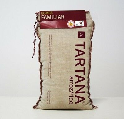 2 x 1 kg Bags of Authentic Spanish Tartana Brand BOMBA Rice (Best Paella Rice)